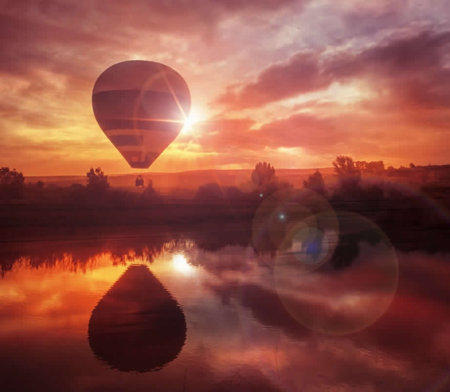 Sunset Hot Air Balloon2