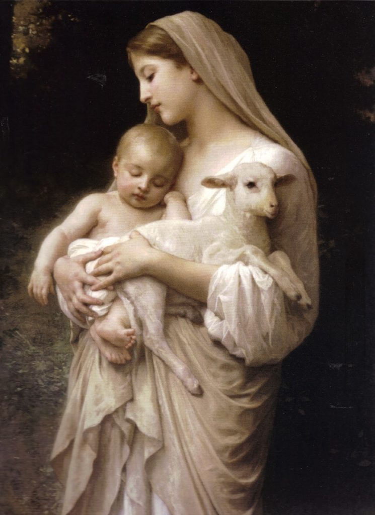virgin-mary-holding-lamb